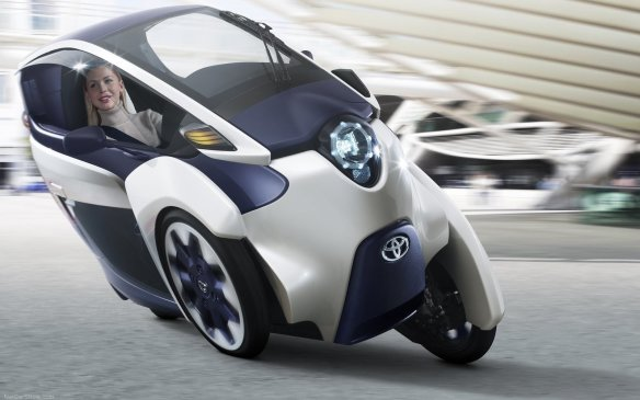 <p><strong>Toyota i-Road Concept (Canadian debut) – </strong>One of Toyota's latest what-if exercises in personal transportation, the electric i-Road is designed with enough room for two people. It offers some neat touches such as exterior screens that can display the vehicle's mood. And it has three wheels to maximize maneuverability and stability.</p>