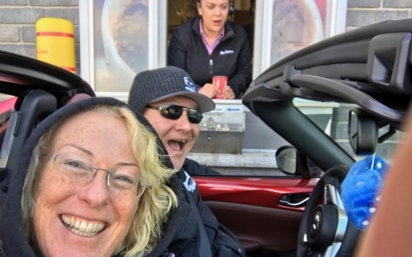 <p>In fact, we were so pleased that we celebrated by driving back to Toronto in minus-6 sunshine with the top down all the way. We cranked the heat and wore warm hats and never even felt the cold.</p>