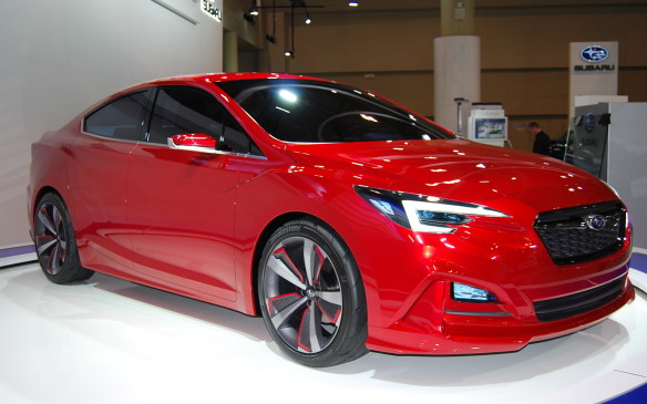 <p>Many manufacturers choose to display concept vehicles - thoughts or visions they have - for a future vehicle. Subaru is trying out this Impreza Sedan concept on the show's audience - and it's getting a good reception.</p>