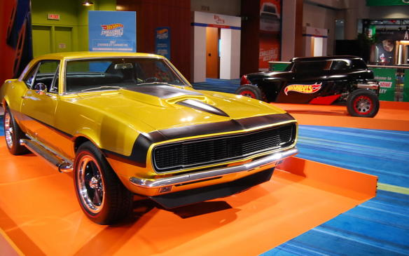 """<p>Among the many special features in the show is a tribute to the 50th anniversary of Hot Wheels, which promises to be <a href=""""https://autofile.ca/en-ca/auto-news/hot-wheels-celebrates-50-years-at-toronto-auto-show"""">an attraction for kids and kids-at-heart</a>alike. In addition to the Hot Wheels themselves, there are several full-size versions on display as well, including this1967 Chevrolet Camaro RS.</p>"""
