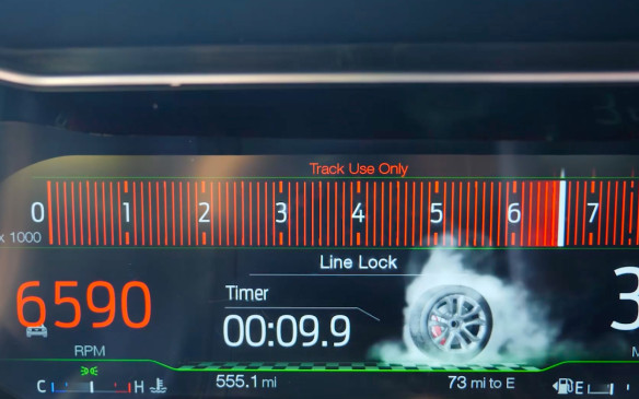 <p>There's even a little smoking wheel icon that spins in sync on the display when this is happening.</p>