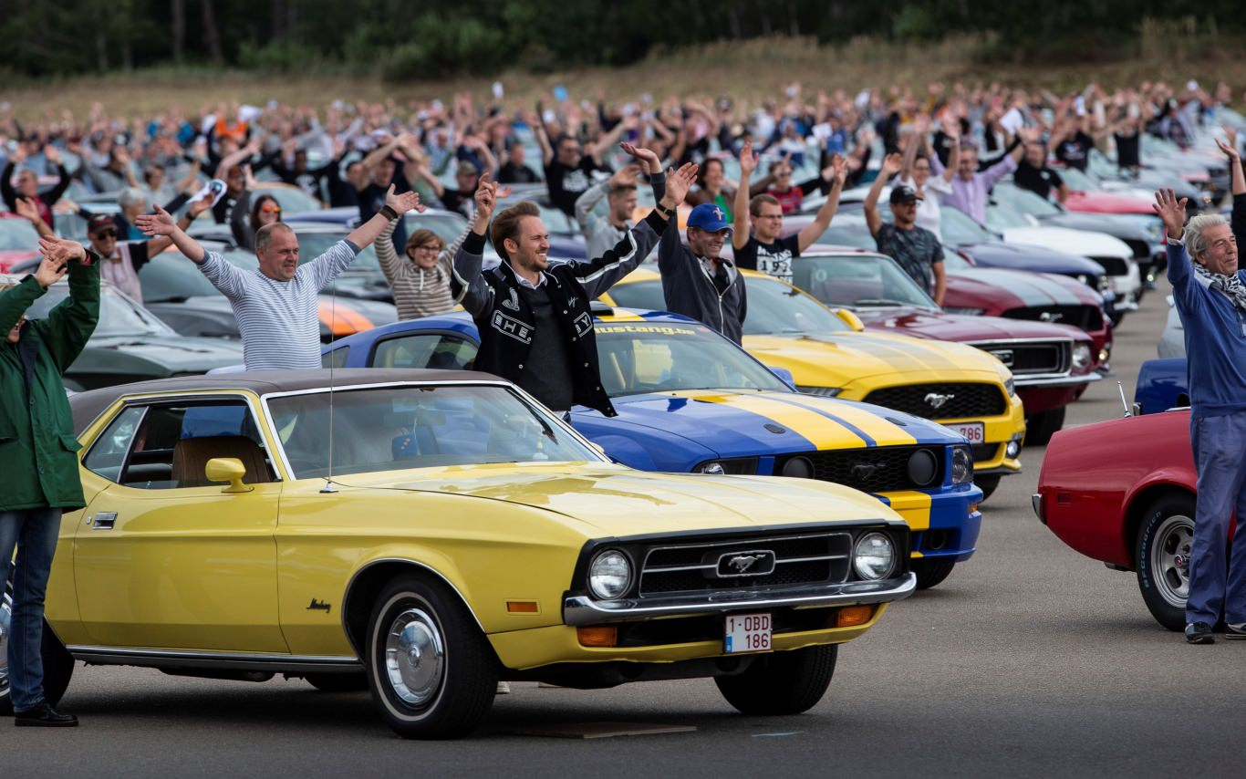 All-America icon Ford Mustang sets world-record meeting in Belgium