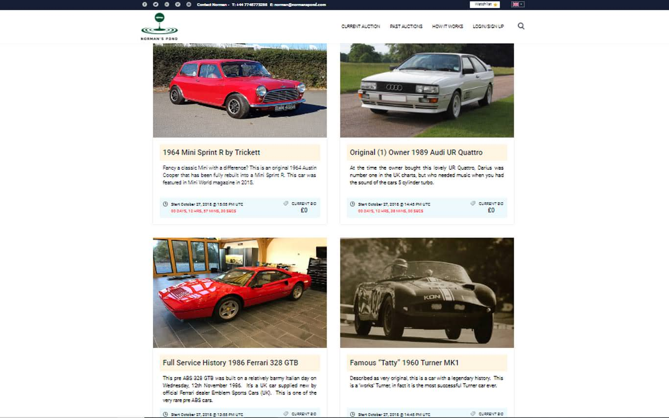 Classic car auction site launches in UK