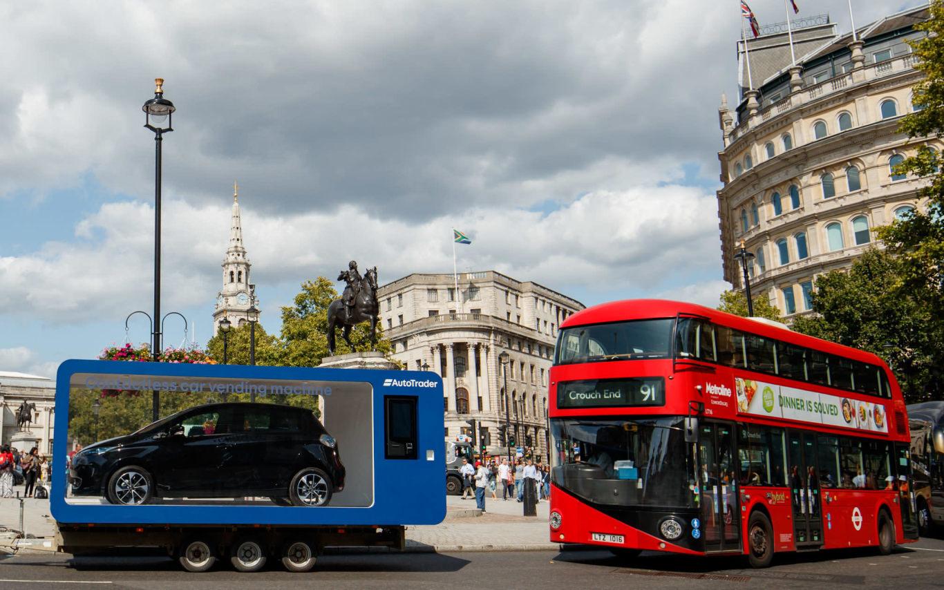 Car vending machine debuts in London