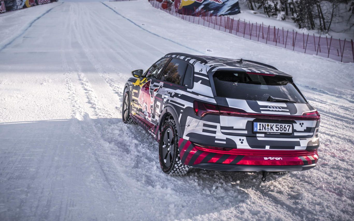 Audi takes e-tron to the slopes