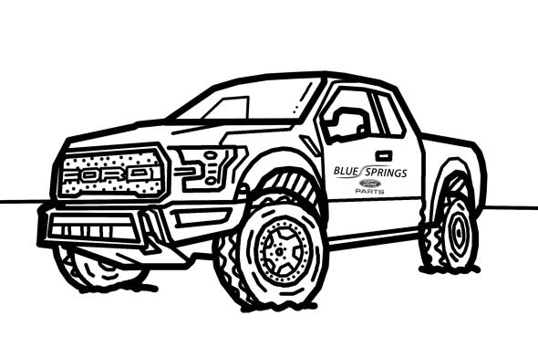 Ford Raptor stars in its own colouring book | Autofile ca