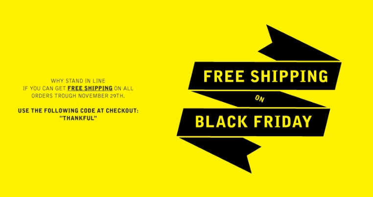 vlack friday free shipping promo banner