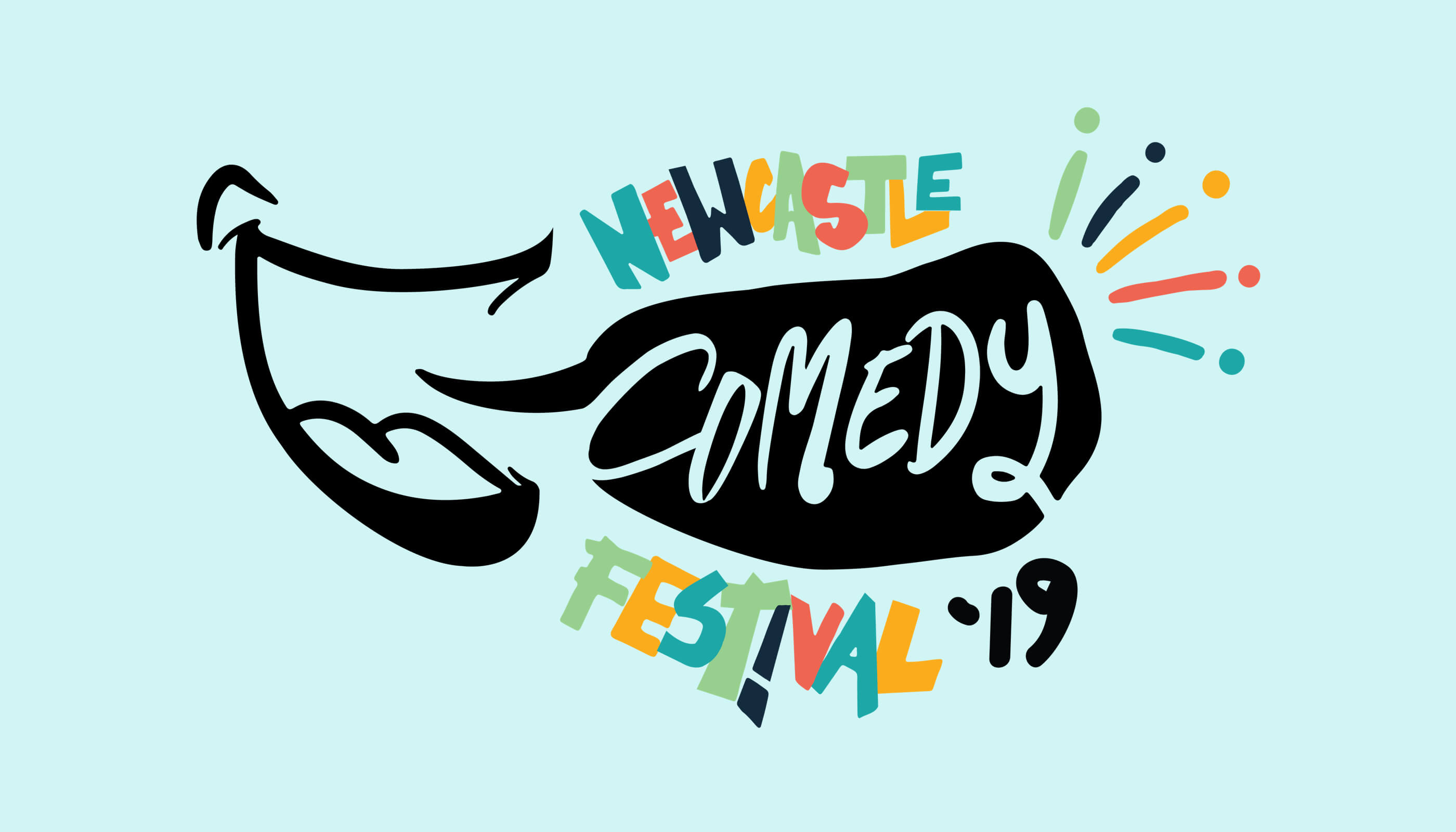 newcastle comedy festival 2019 banner logo