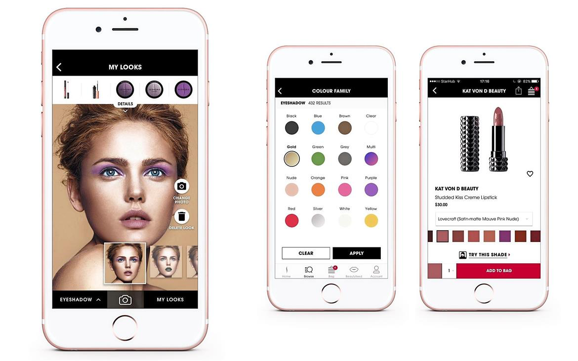 iphones showing sephora's mobile app