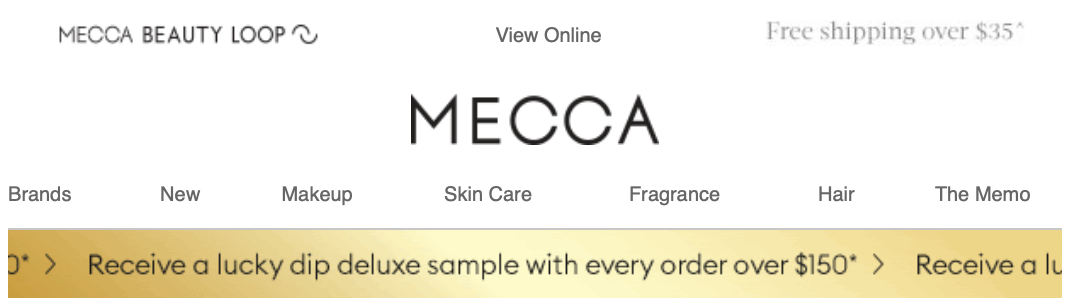 mecca cosmetica christmas lucky dip offer