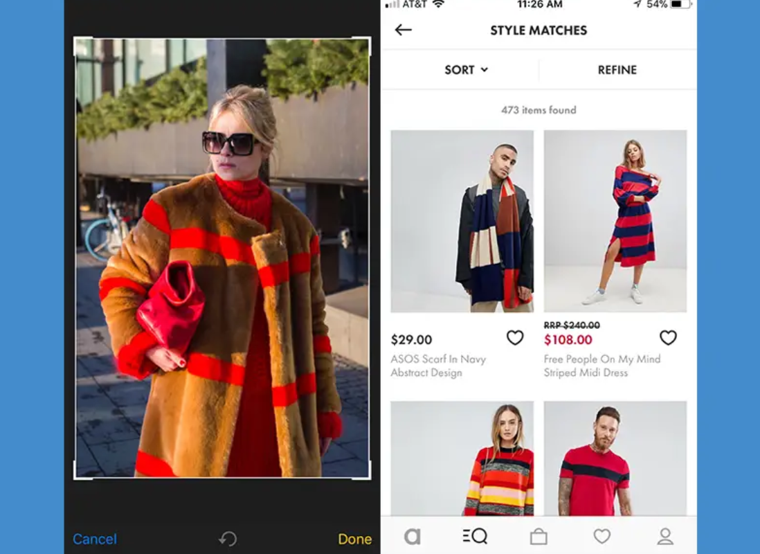 ASOS style match visual search tool