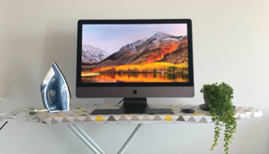 image from My ironing board is now my standing desk - but is WFH the 'new normal'?