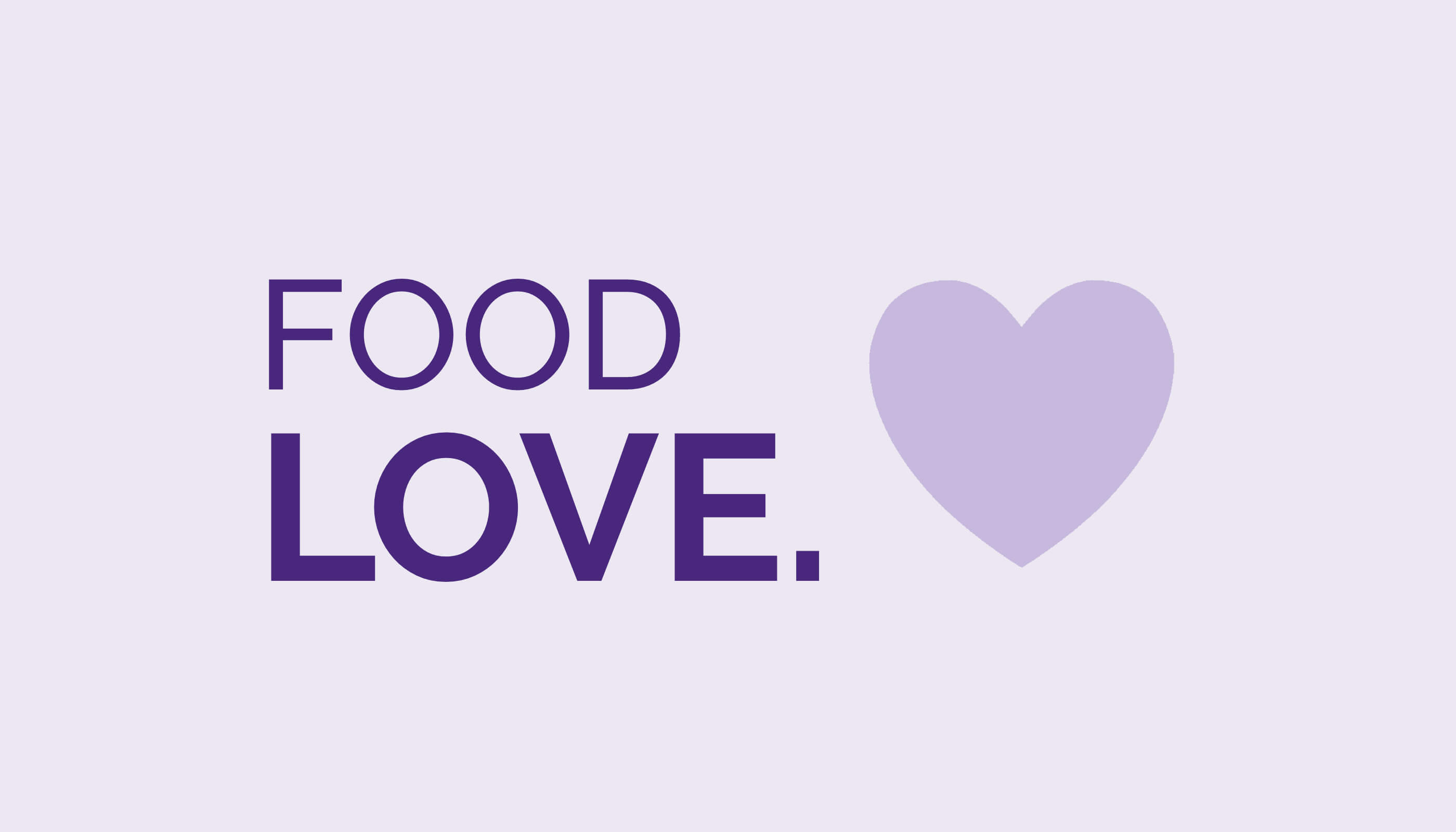 Image of heart with Food Love logo.