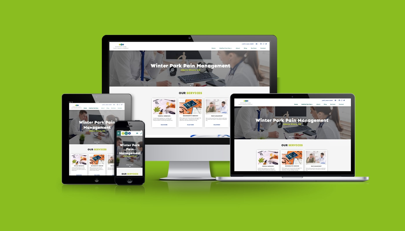 Winter Park Pain Management Custom WordPress Website