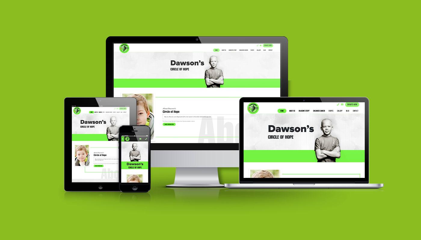 Dawson's Circle of Hope Custom WordPress Website
