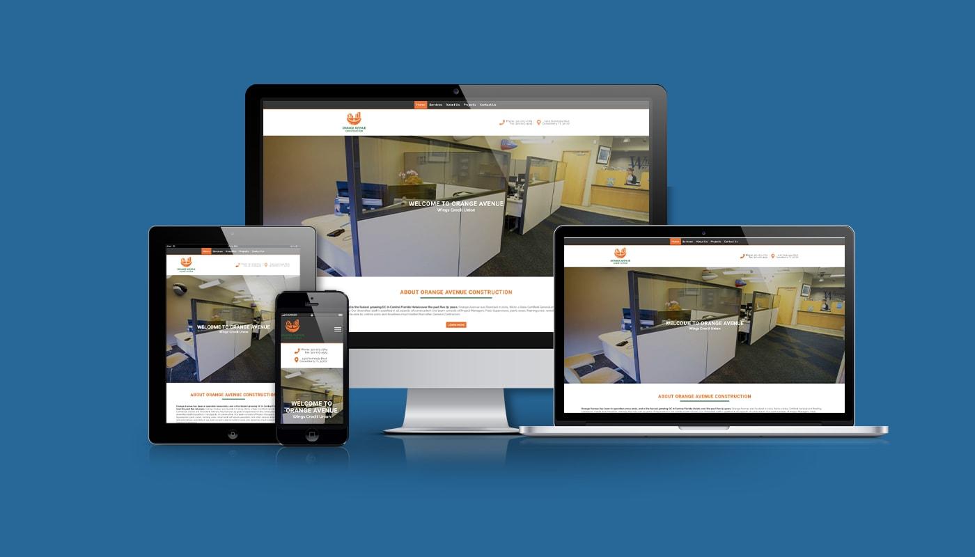 Orange Avenue Contractors Custom WordPress Website