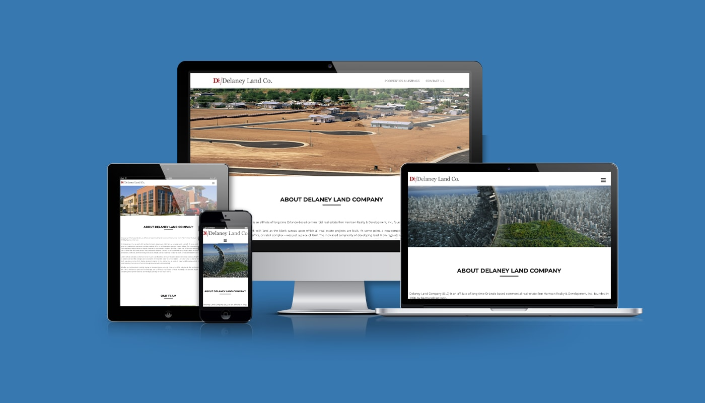 Delaney Land Company Custom WordPress Website