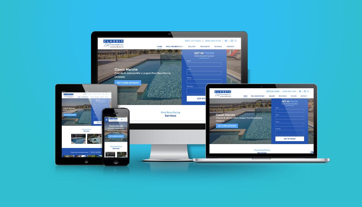 Classic Marcite Custom WordPress Website
