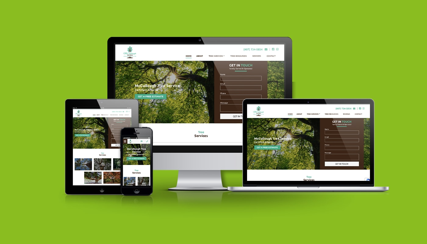 McCullough Tree Service Custom WordPress Website