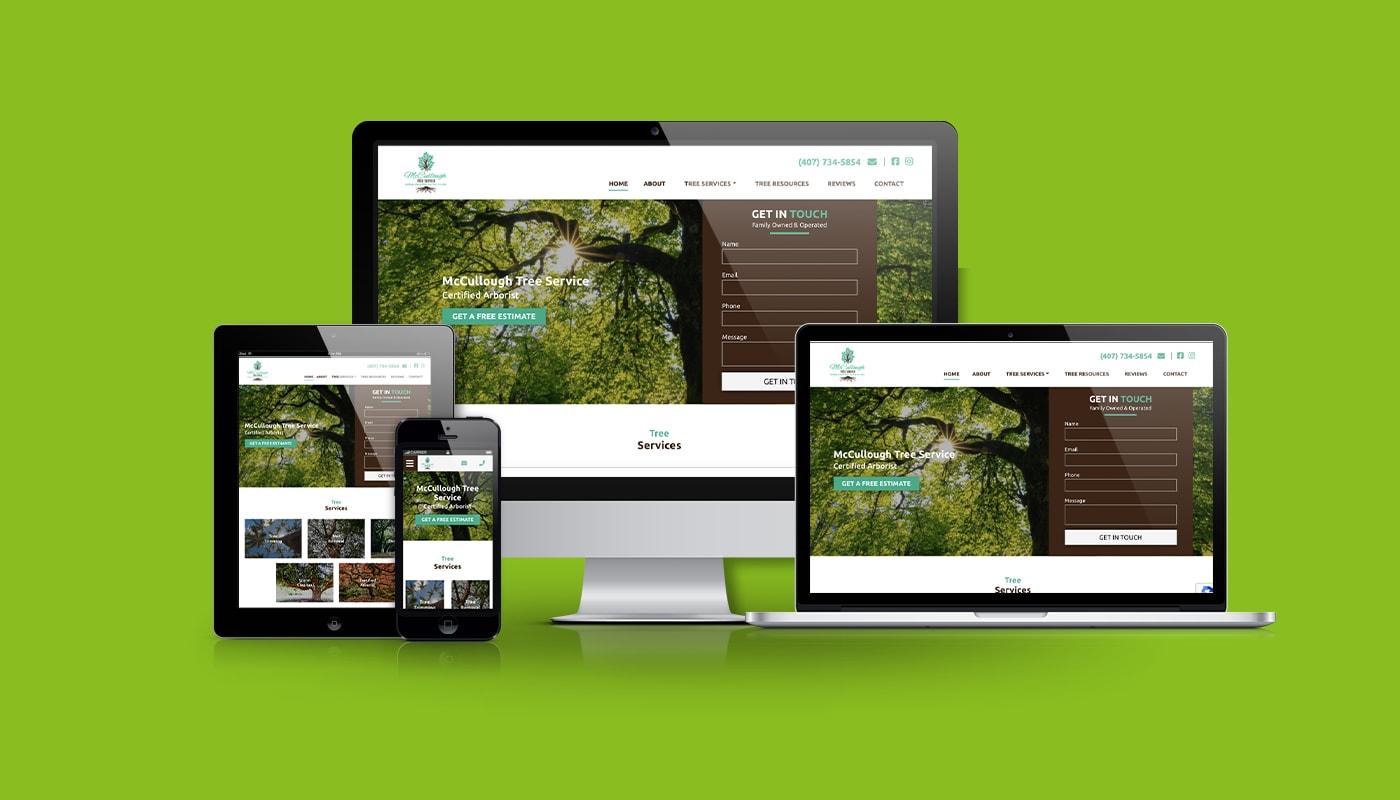 McCullough Tree Service Custom WordPress Website