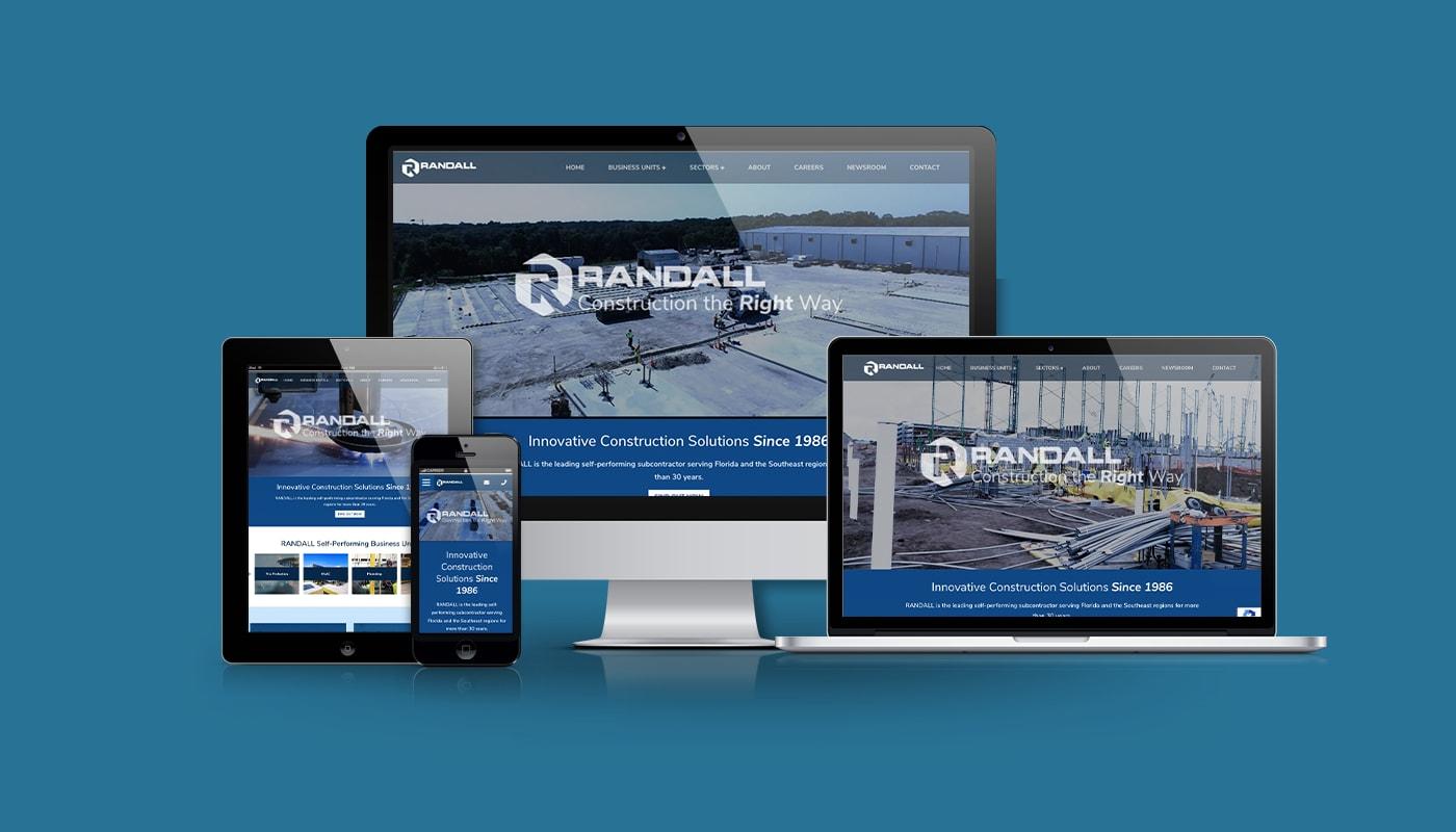 Randall Construction Custom WordPress Website