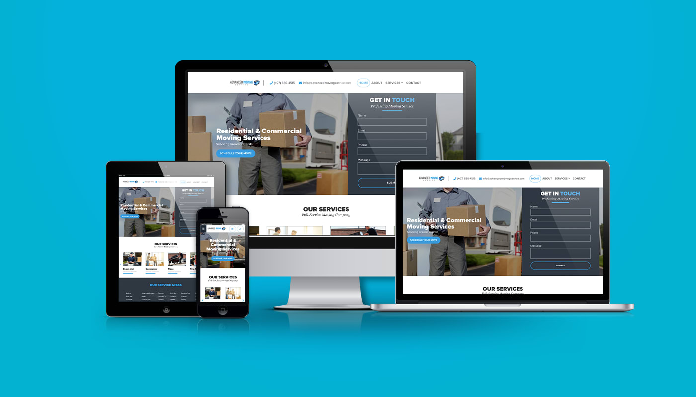 Advanced Moving Service Custom WordPress Website