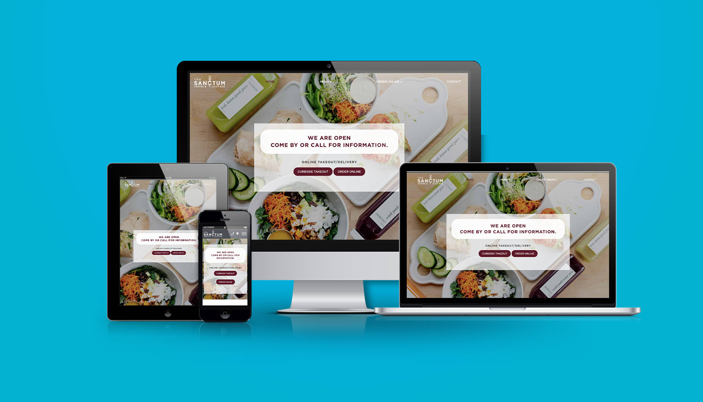 The Sanctum Coffee & Juice Bar Custom WordPress Website