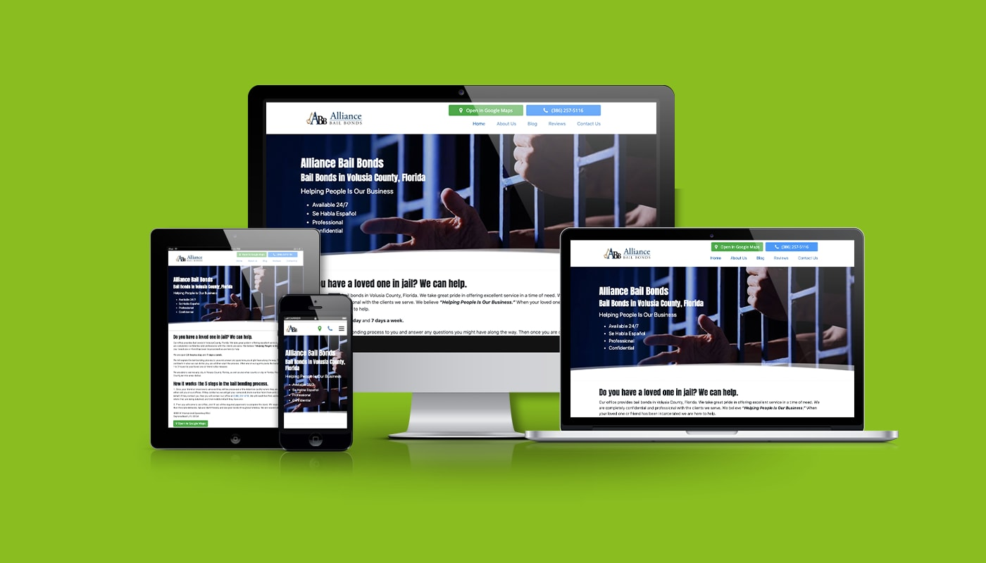 Alliance Bail Bonds Custom WordPress Website