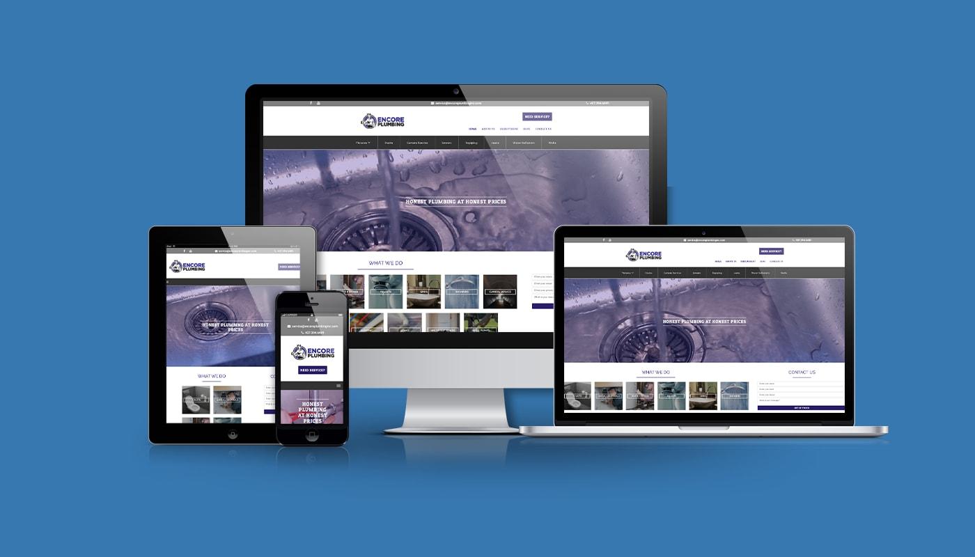 Encore Plumbing Custom WordPress Website