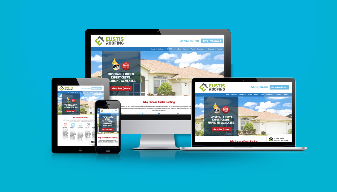 Eustis Roofing Custom WordPress Website