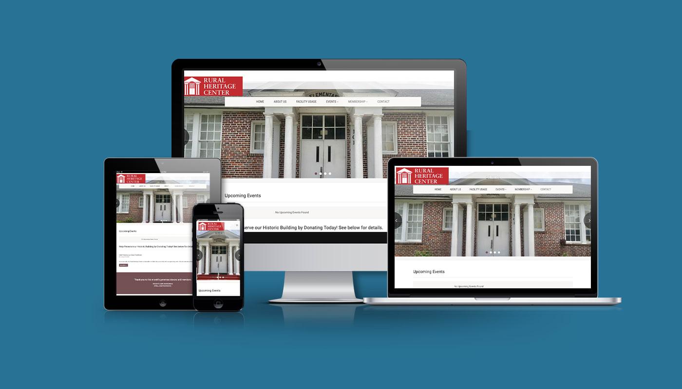 Rural Heritage Center Custom WordPress Website