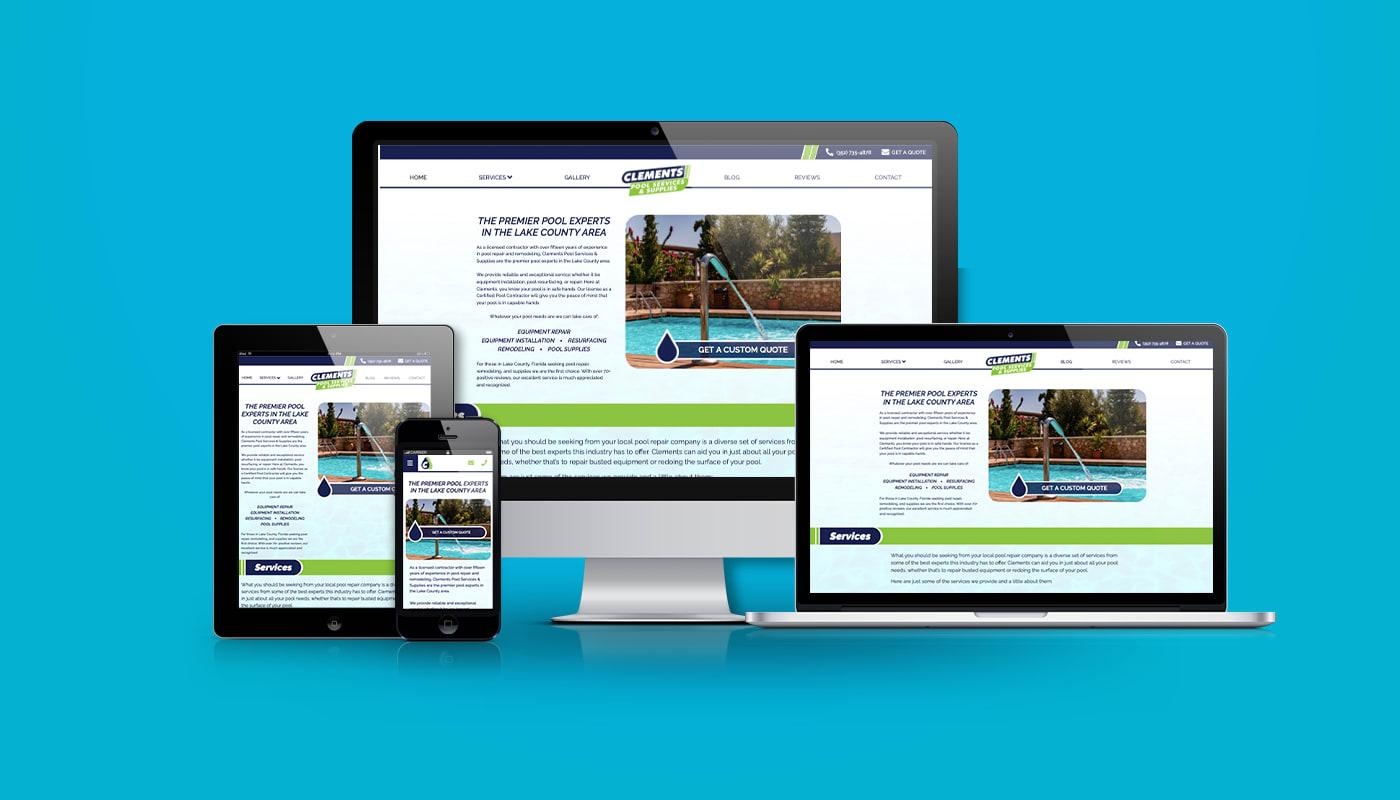 Clements Pool Service & Supplies Custom WordPress Website