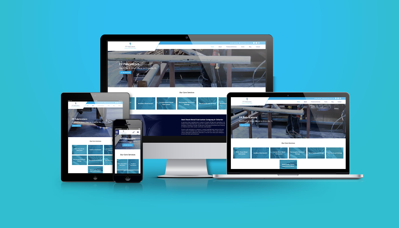 FP Fabricators Custom WordPress Website