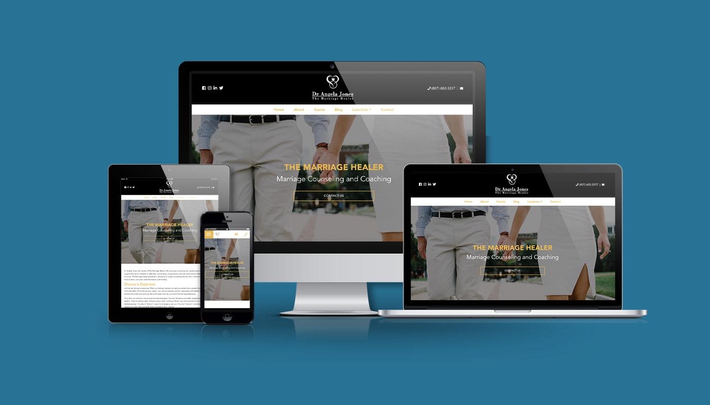 The Marriage Healer Custom WordPress Website