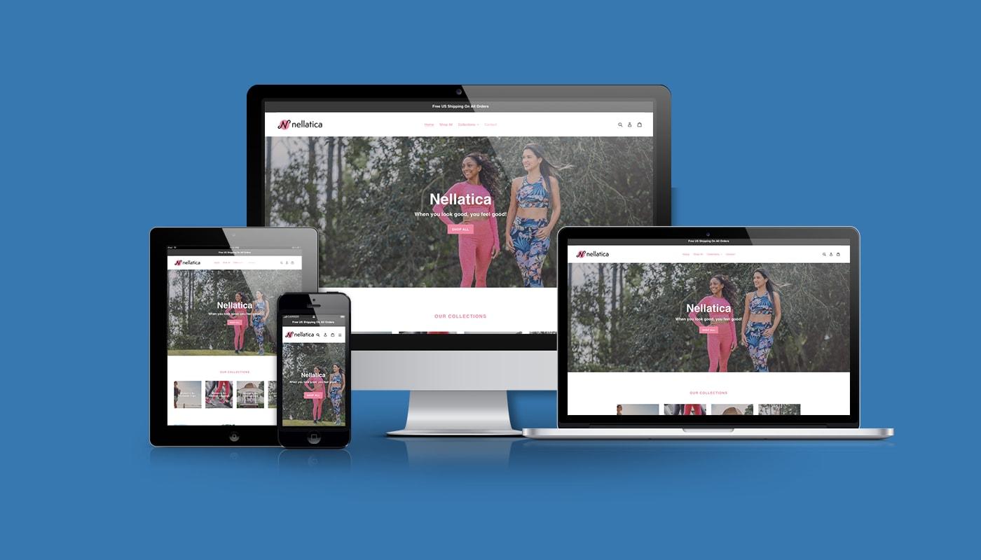 Nellatica Custom WordPress Website