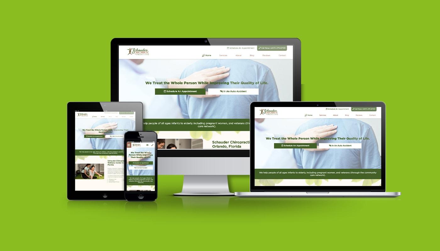 Schauder Chiropractic & Wellness Custom WordPress Website