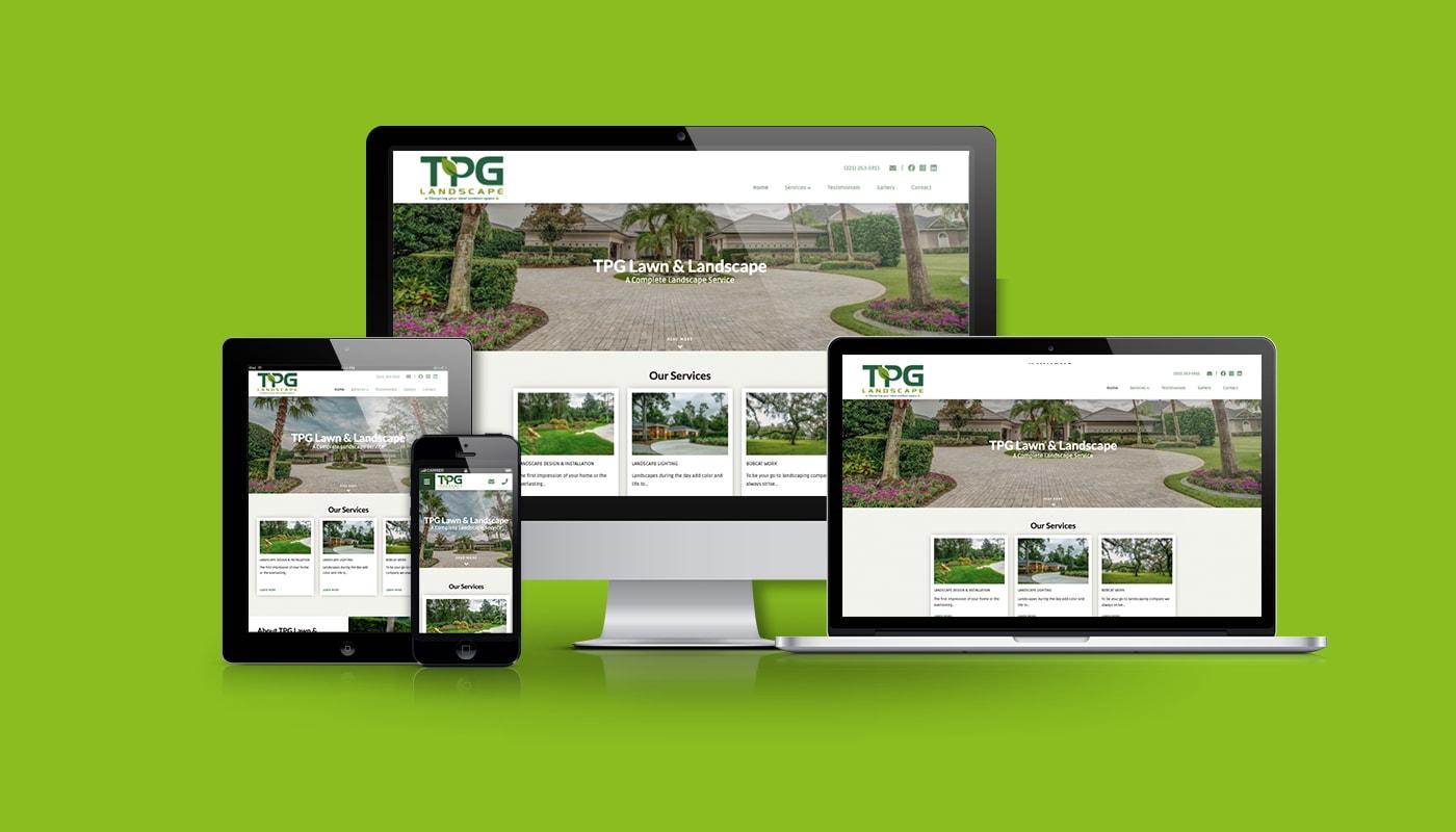 TPG Lawn & Landscape Custom WordPress Website