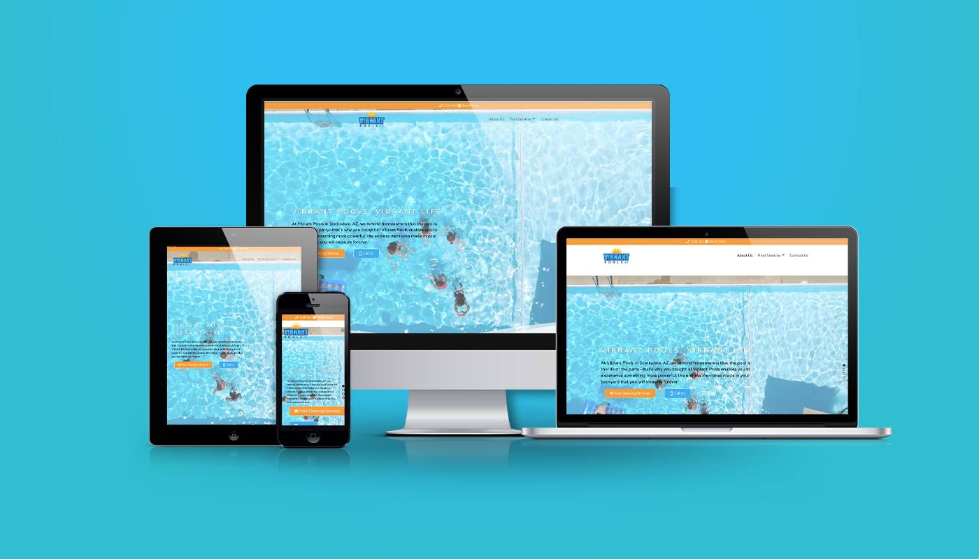 Vibrant Pools Custom WordPress Website