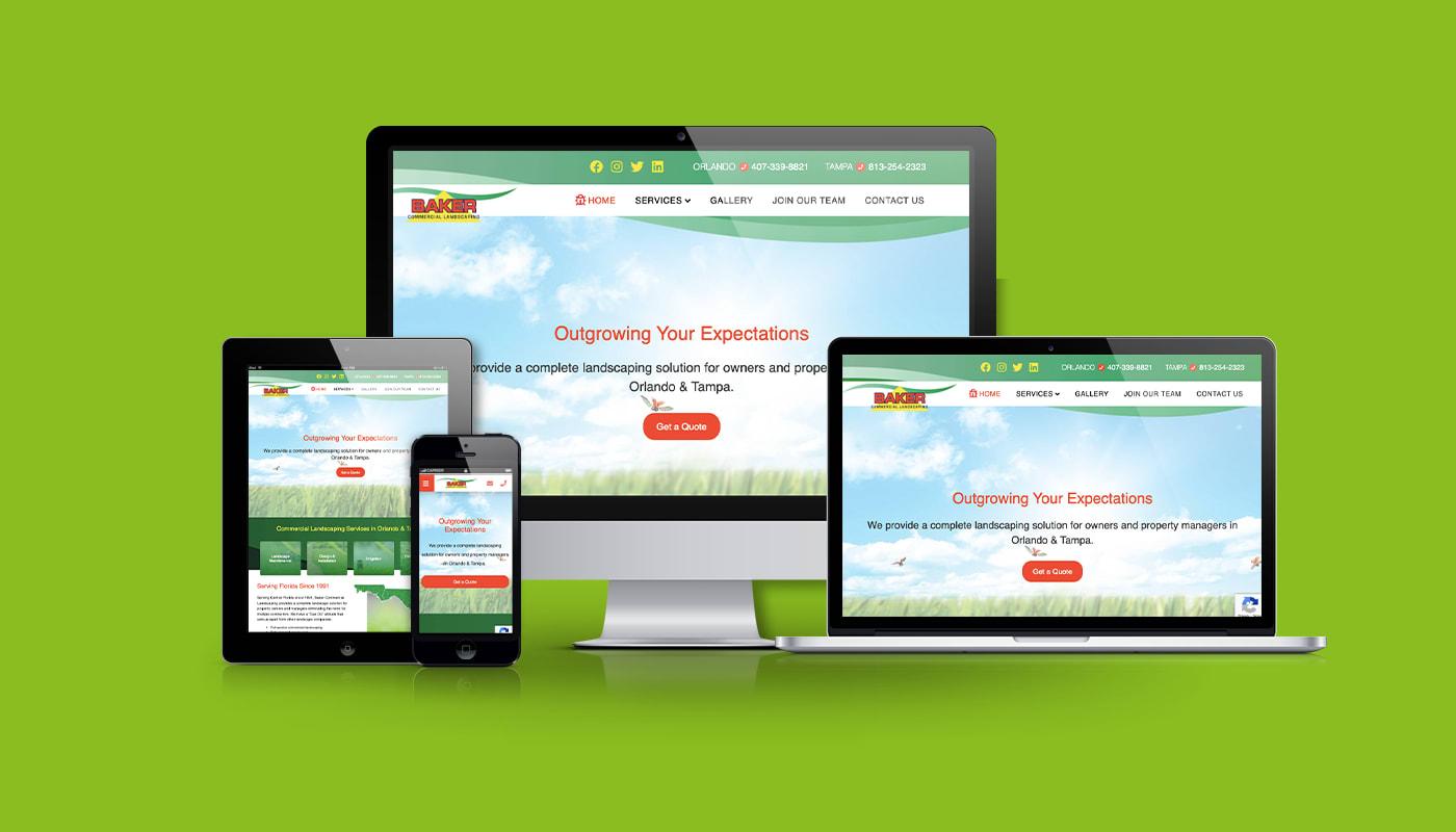 Baker Landscaping Custom WordPress Website