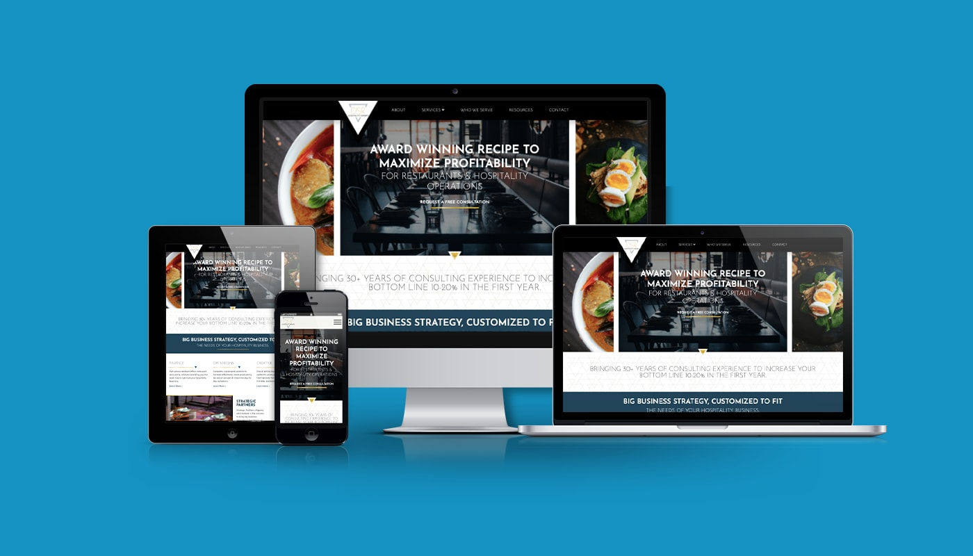DSR Hospitality Experts Custom WordPress Website