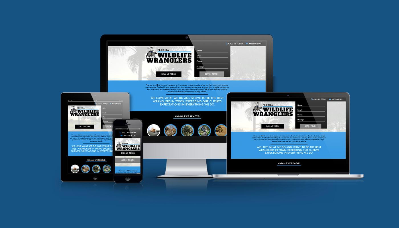 Florida Wildlife Wranglers Custom WordPress Website