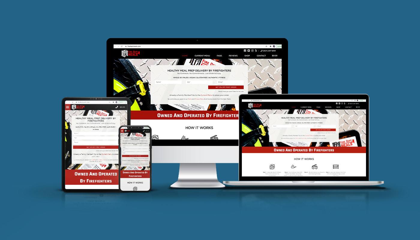 Fire Dept. Meals Custom WordPress Website