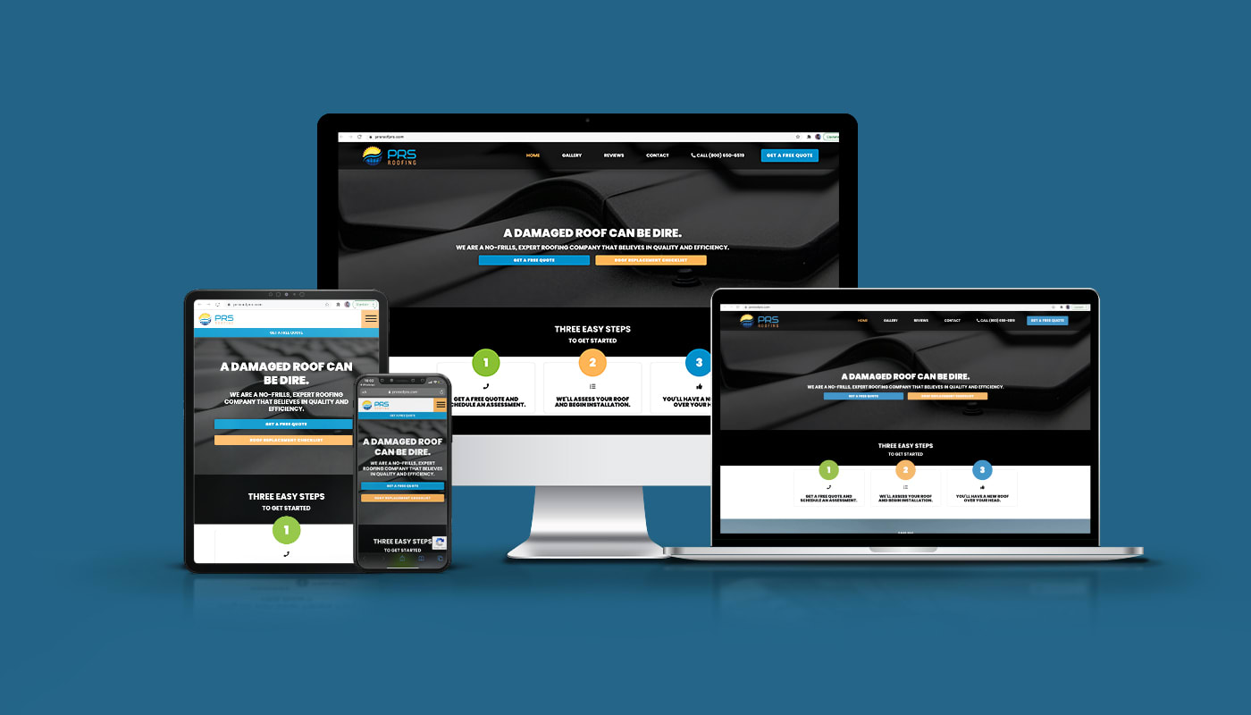 PRS Roofing Custom WordPress Website