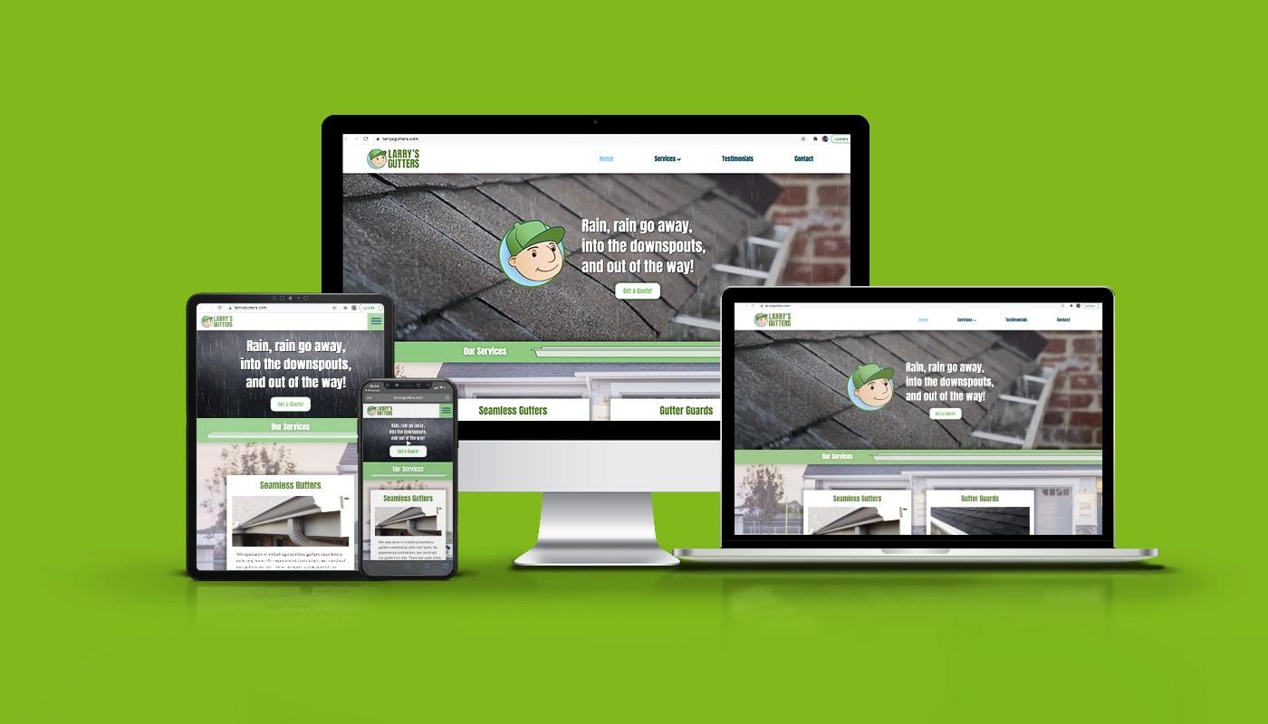 Larry's Gutters Custom WordPress Website