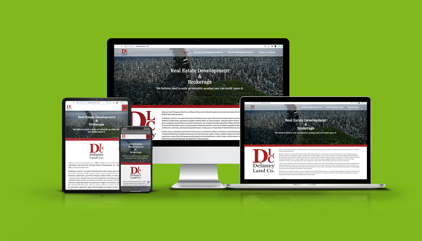 Delaney Land Company Custom WordPress Website