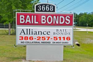 Volusia County Florida Alliance Bail Bonds Sign/Find A Bail Bondsman