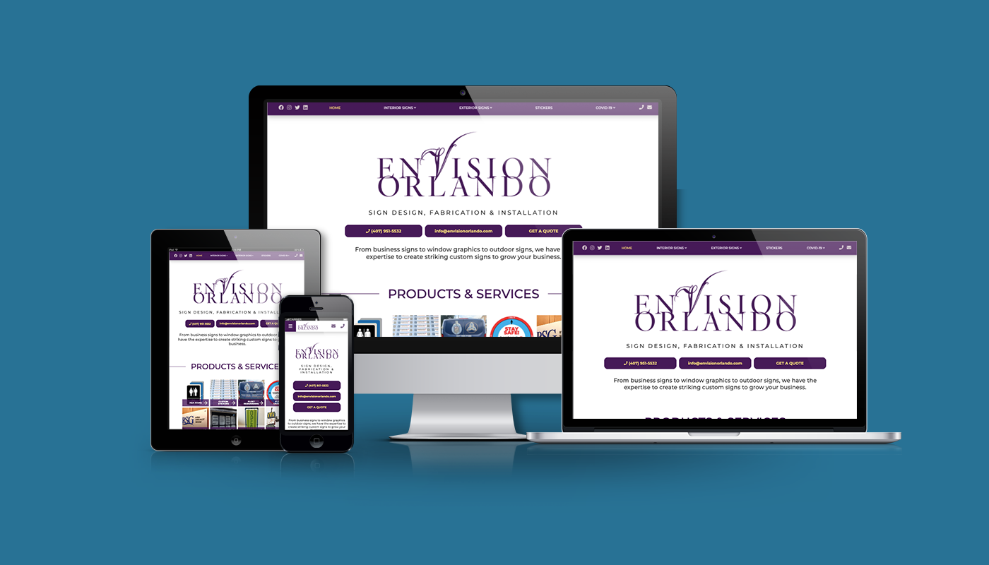 Envision Orlando Custom WordPress Website
