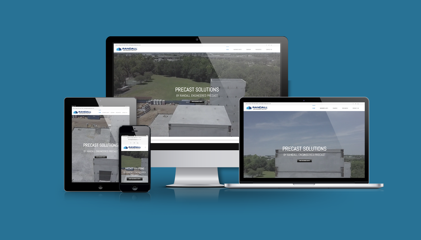 Randall Engineered Precast Solutions Custom WordPress Website