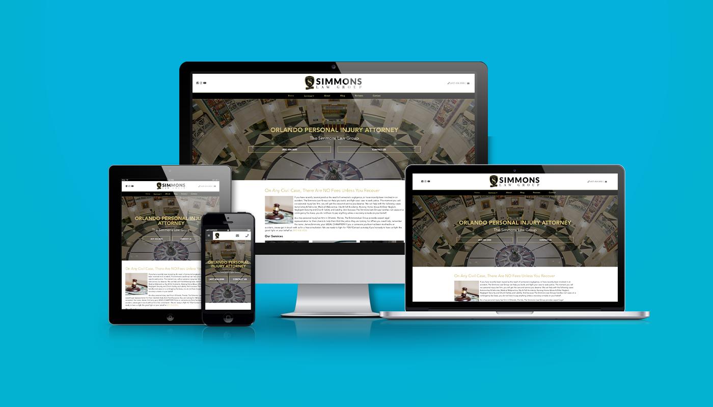 Simmons Law Group Custom WordPress Website
