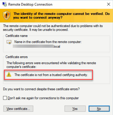 Replace RDP Default Self Sign Certificate